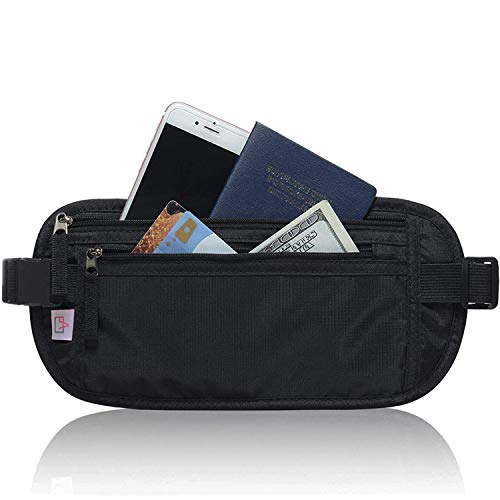 RFID Blocking Travel Wallet - Money Belt & Passport Holder, Waist Pack for Women Men...