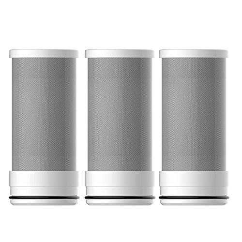 Removes Chlorine Spardar Shower Water Filter Ball High Output Universal Shower Replaceable Multi Stage Filter Cartridge 1, Silver Impurities /& Unpleasant Odors