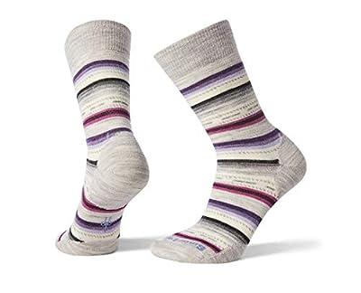 Smartwool Women's Margarita Crew Socks - Merino Wool Performance Socks (ASH-MEADOW MAUVE, M)