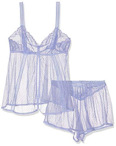 Women's Secret RM Short Lilac PJ FR Conjuntos de Pijama, Sweet Lavender (Rosas 76), Small (Tamaño del Fabricante:S) para Mujer