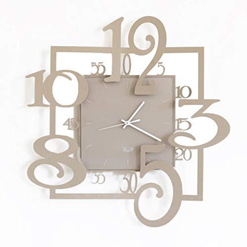 orologio da parete 50x50 Arti & Mestieri Amos - Orologio da Parete di Design 100% Made in Italy - in Ferro