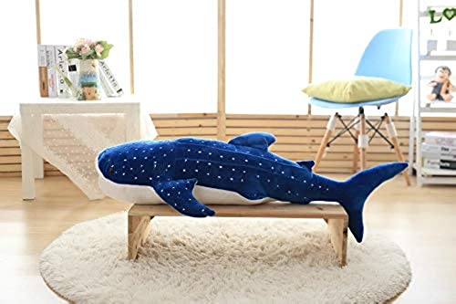 barato CGDZ 50 100 cm Tiburón Tiburón Tiburón azul Juguetes de Peluche Big Fish Tela muñeca Ballena de Peluche Aniñales del mar Niños Regaño de Cumpleaños 100 cm  Envío rápido y el mejor servicio