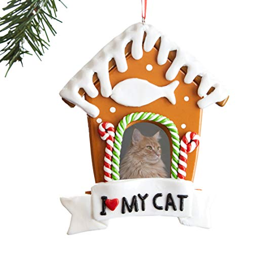 Super Festive, Cat Picture Frame Xmas Ornament. Customize Your Fun 2020 Christmas Keepsake With Cute Tabby or Gray Kitten Photo. Perfect for Personalized Secret Santa, Stocking Stuffer or Pet Memorial