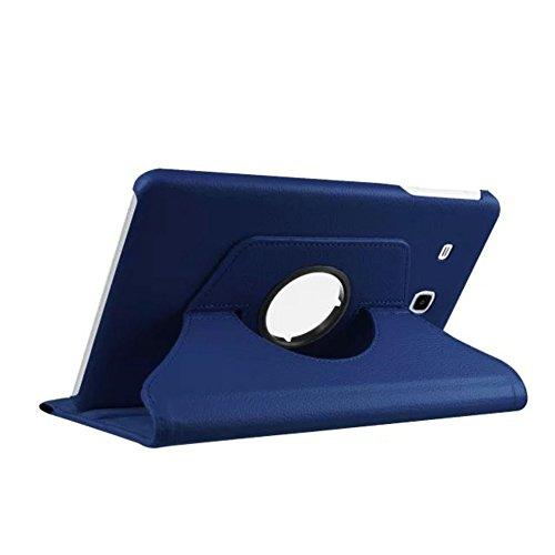 Lobwerk Tasche für Samsung Galaxy Tab E SM-T560 T561 9.6 Zoll Hülle Stand Slim Flip Book Cover Folio Skin (Blau) NEU