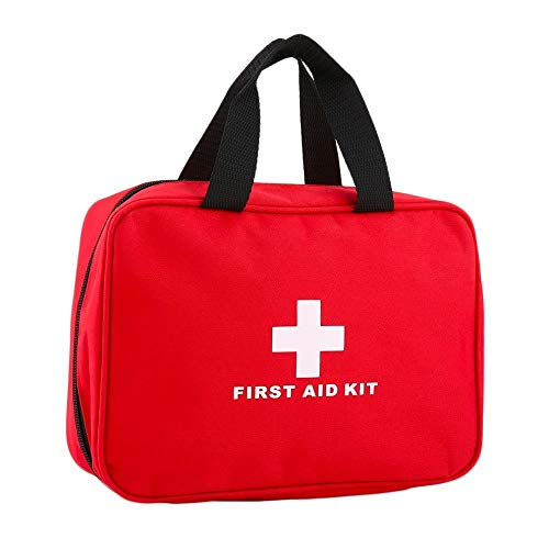 ArtMed First Aid Kit Empty Bag for Outdoor Travel Office Home First Aid Kit Hiking Camping Emergency Kit Best Survival Medical Organizer (Red)