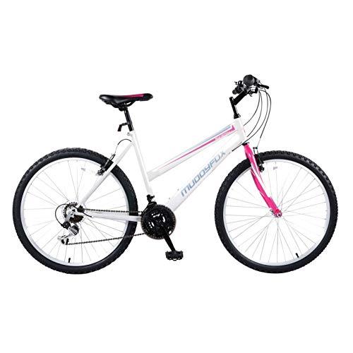 Muddyfox Womens Synergy Mountain Bike White/Teal 26 Inch