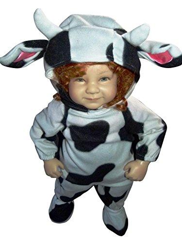 Kuh-Kostüm, F79 Gr. 92-98, für Klein-Kinder, Babies, Kuh-Kostüme Kühe Kinder-Kostüme Fasching Karneval, Kleinkinder-Karnevalskostüme, Faschingskostüme, Geburtstags-Geschenk