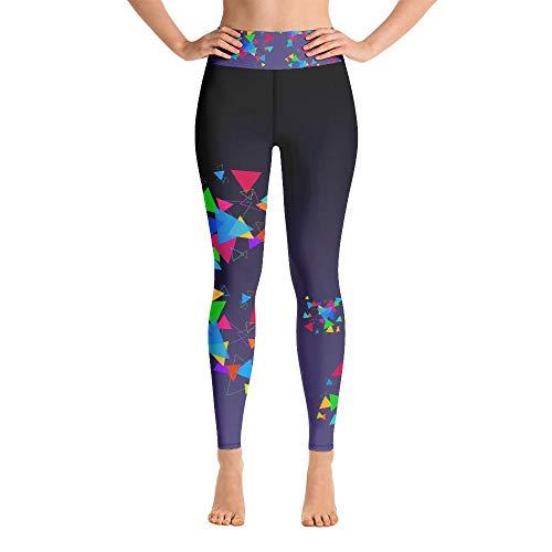 Leggings de yoga para mujer, pantalones de yoga para mujer, tres leggings de yoga gráficos - negro - Medium