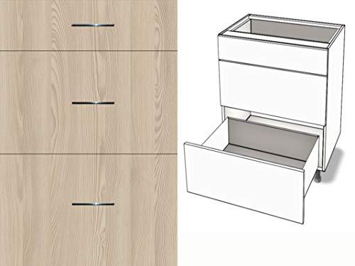 Premium-Ambiente AGEEPA0083 Unterschrank 3-Schubladen Soft Closing EURODEKOR® (Breite 80cm, 14 Esche Navarra)