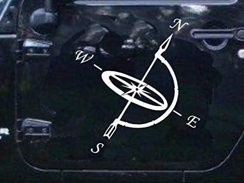 Generic Kompass Aufkleber 20x20cm Oder 30x30cm Windrose Aufkleber Für Caravan Wohnmobil Wohnwagen Auto Oder Als Wand Tattoo 94 1 20x20cm Schwarz Glanz Garten