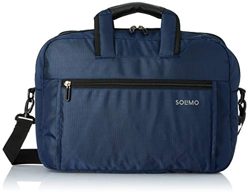 Amazon Brand - Solimo Laptop Messenger Bag for 15.6-inch Laptops, 19L (Blue)
