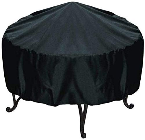Patio Round Fire Pit Cover,Outdoor Waterproof Gas Firepit Cover,30 Inch Four seasons