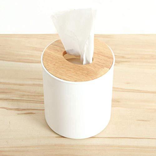 QYDF Legno massello portatovaglioli Caso Semplice Elegante bambù Copertura albergo Box di stoccaggio Porta Asciugamani di Carta velina della Cucina della casa di Legno Scatola di plastica,Bianca