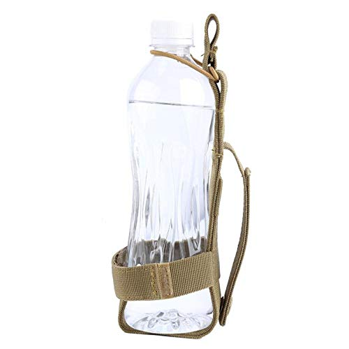 Bolsa de Botella de Agua Deportiva al Aire Libre Cinturón portabotellas de Nylon para Caminar Ciclismo Senderismo 3 Colores Opcionales(Caqui)