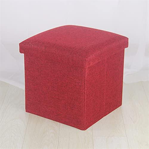 NZQK Casa Simple Multifuncional Creative Storage Tela de Tela de algodón Sofá Zapatos Plegables (Color : Dark Red, Size : 40x25x25cm)