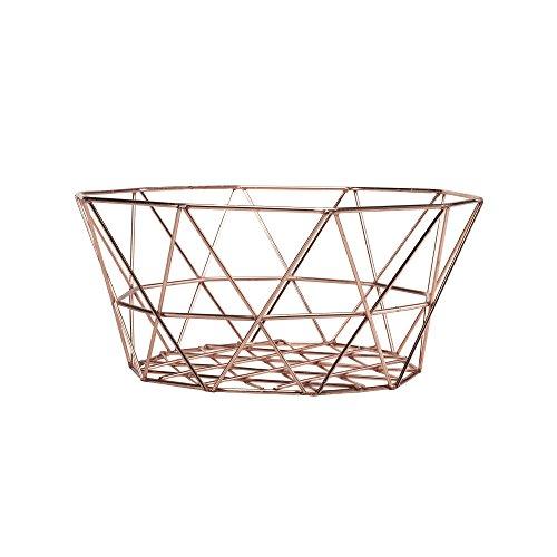 SummerHawk Ranch Geometric Egg Basket – Copper, Metal Wire, Chicken Poultry Equipment