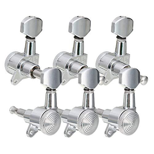 Preisvergleich Produktbild Tree-on-Life Metal Locking Tuners Guitar Tuners Mechaniken Stimmwirbel Keys 6R Chrome Small Button für E-Gitarre