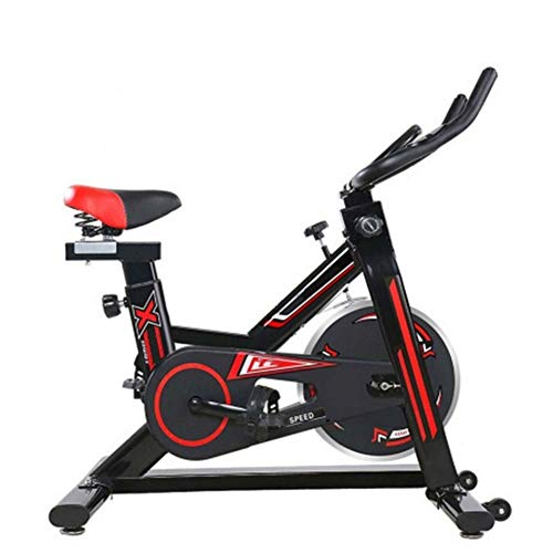 KUANGQIANWEI Cyclette ellittica Fitness Spinning Bike Indoor Ultra-Silenzioso Cyclette Casa Bike Sport Attrezzature for Il Fitness (Color : Black, Size : Standard)