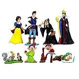 8 unids / Lote Modelo de Anime Princesa Blancanieves y los Siete enanitos Reina Bruja Príncipe...