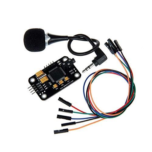 GOUJI Liupin Store Riconoscimento modulo vocale e Microfono Dupont Riconoscimento velocità Compatibile con la Misura for Arduino 3D Parti della Stampante Facile da installare