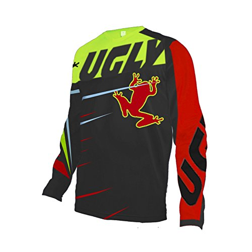 Uglyfrog Element Youth//Mens Long//Short-Sleeved Jersey MTB DH MX Mountain Bike Enduro Off-Road Downhill Motocross Jersey