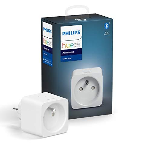 Philips Hue Prise Connectée Smart Plug compatible Bluetooth, fonctionne avec Alexa