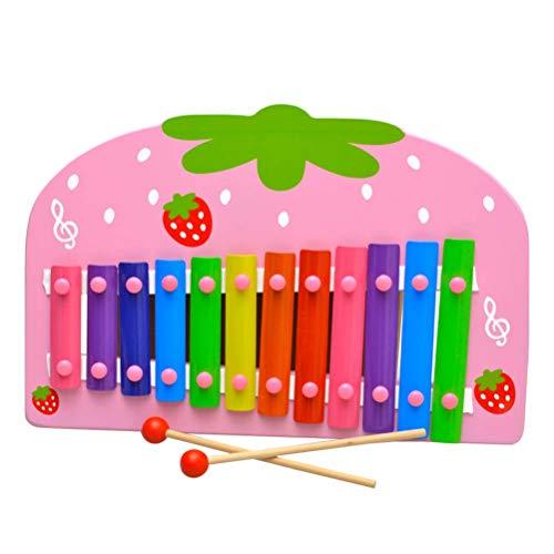 YeahiBaby Xilofono di Legno Giocattoli Musicali Educativo Giochi per Bambini