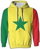 nchengcongzh Bandera de Senegal Sudaderas con Capucha para Hombres Sudaderas con Capucha Suéter 3D Estampado Completo con Bolsillos