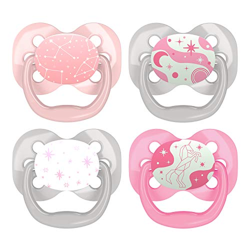 Dr. Brown's Advantage Pacifiers, Stage 1, Pink, 4-PK, Pink