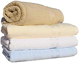 Royalty Bath Towel - 70 x 140 cm - 100% Cotton - 620 GSM – Dobby Border- Soft & Absorbent Towels for Pool, Spa and Gym Hig...