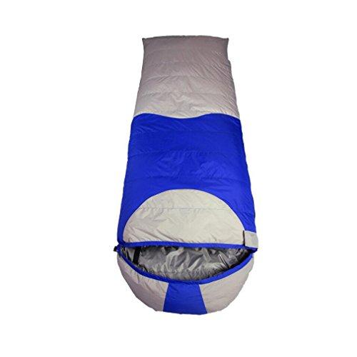 NINI Schlafsack Outdoor Eiderdaunen Light Weight Schlafsack Vier Jahreszeiten Universal Camping, Wandern, Fahren, Klettern (Rot, Blau),Blue