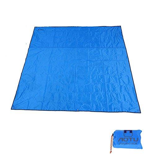 Rayami - Lona impermeable, 215 x 215 cm, para usar al aire libre, multifuncional, barrera de humedad, con bolsa de transporte con cordón, azul