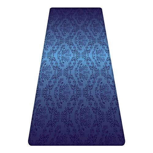Navy Blue Decor Rug Runner,Antique Baroque Floral Swirling Patterns Victorian Vintage Retro Style Decor,for Living Room Bedroom Dining Room,4'x 2',Black Dark Blue