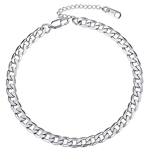 Chain Anklet, Hypoallergenic Stainless Steel Ankle Chains Foot Chain Jewelry for Women, Adjustable 8.5 Inch -10.5 Inch