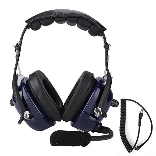 Best Review Of Aviation Headset,Blue Noise Cancelling Behind The Head Style Two-Way Radio Headset wi...