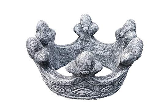 Gardens2you Décoration de jardin en forme de couronne de roi, fabriqué à la main, résiste au gel, fabriqué en Allemagne