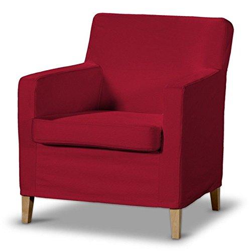 FRANC-TEXTIL 621–702–04Karlstad Poltrona Rivestimento Alto, Cotton Panama, Rosso