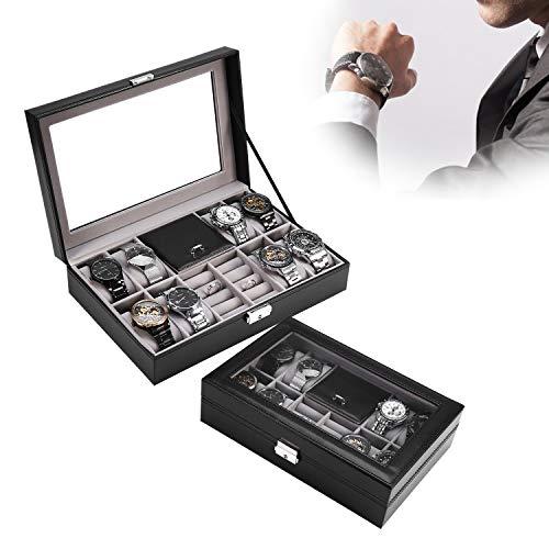 Caja de Exhibición de Reloj, Caja Organizadora de Reloj para Almacenamiento y Exhibición de Joyas de Reloj (#1)