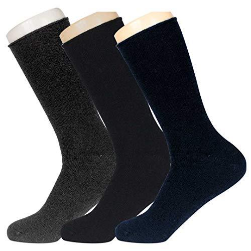URGAÑA-Calcetin lana para hombre PACK 3 pares. Diseño liso