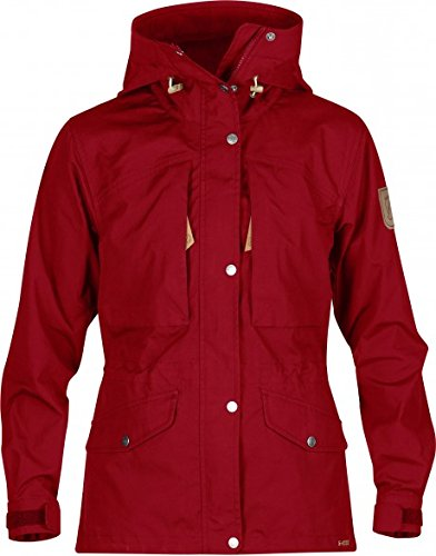 FJÄLLRÄVEN Damen Singi Trekking Jacket W. Softshelljacken, Deep Red, L