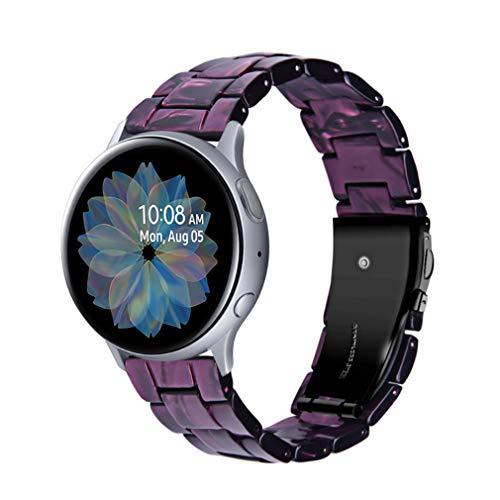 Kompatibel für Galaxy Watch 42mm, Miya Resin Ersatzarmband Armband Faltschließe Armband Damen Herren Armband WatchBand für Samsung Galaxy Watch Active 2 40mm/Gear S3 Frontier/Gear S2 (A06)