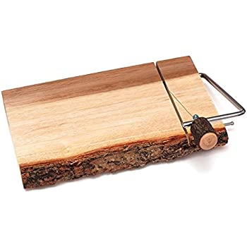 10 x 7 x 3/4 Woodard & Charles Acacia Wood Cheese Board with Wire ...