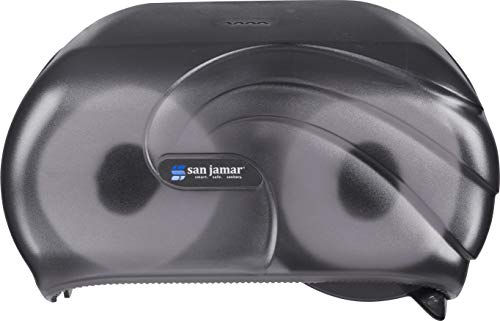 San Jamar R3690TBK Versatwin Double Roll Toilet Tissue Dispenser with Bio Pruf, Oceans, Black Pearl