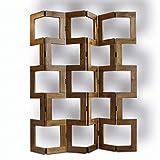 tapidecor Biombo Raumteiler aus Naturholz, 6 Blatt, 150 x 172