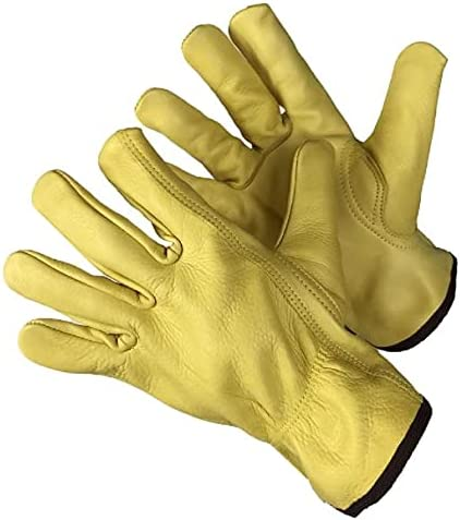 12 Pairs Golden Brown Leather Hand Protection Ideal Work Gloves. Max 50% OFF Max 85% OFF