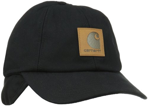 Carhartt Men's Workflex Ear Flap Cap,Black,Medium/Large