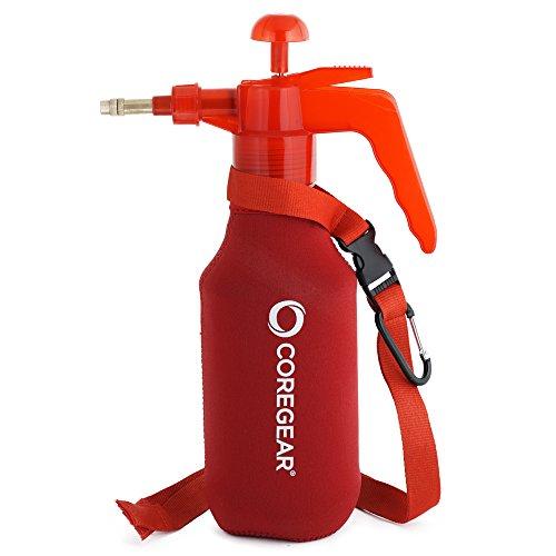 COREGEAR (Ultra Cool JR XL USA Misters 1 Liter Mister & Sprayer persönliche Wasserpumpe mit Neopren-Mantel (rot)