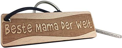 Schlüsselanhänger aus Holz - Beste Mama der Welt - Geschenkidee Mama