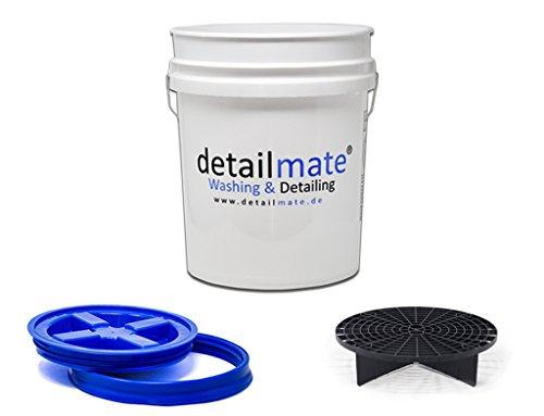 GritGuard Detailmate Wasmachine, 5 g (ca. Gamma Seal emmerdeksel, blauw, inhoud 20 liter, zwart