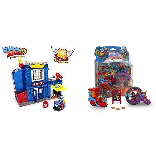 SuperZings Estación De Policía, con 2 exclusivas Figuras Serie 3 Blíster Pizza Mission 3